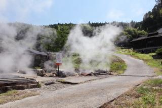 岳の湯ハゲの湯の蒸気