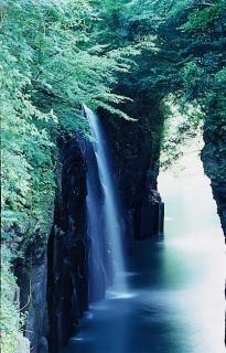 Waterfall of block style of Chinese character well