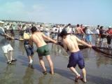 無料観光地引網(中里海水浴場)